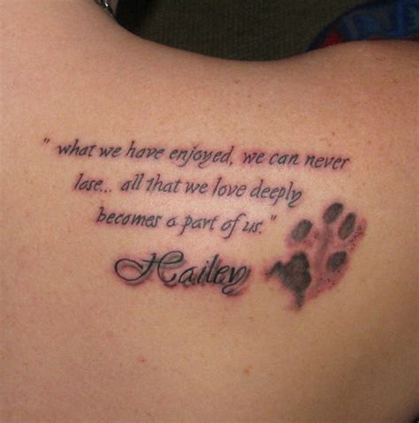 tattoo quotes for dogs 50 coolest memorial tattoos