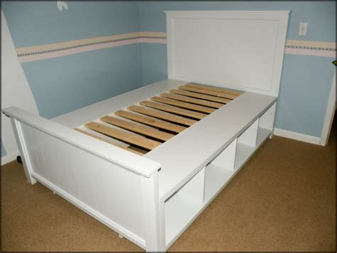 bed frame with shelves furniture black full size captain bed frame with storage