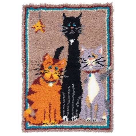maxim latch hook rug kits maxim krazy kats latch hook rug kit