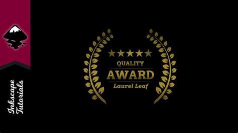 indonesia graphic design award inkscape tutorial create a laurel leaf award graphic