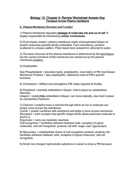 images  cell membrane structure worksheet