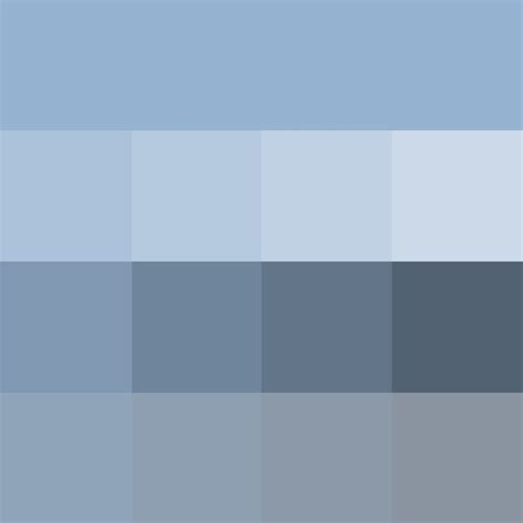 grey color shades pantone powder blue hue pure color with tints hue