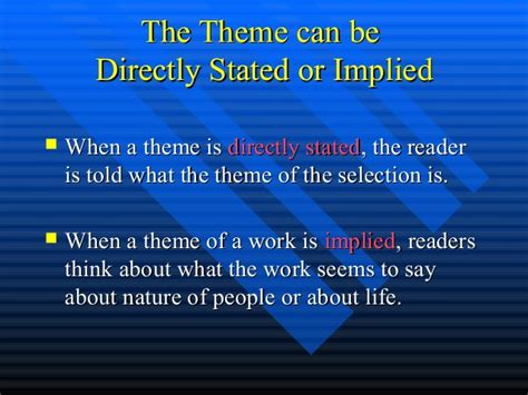 themes in literature test 7 theme