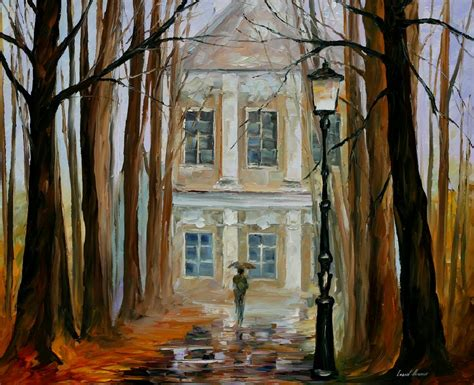 house portrait artist old summer house palette knife oil painting on canvas by