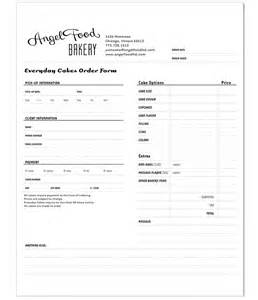 bakery order form template order form template bakery crafts