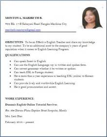 Job Resume Pics by Job Application Resume Format