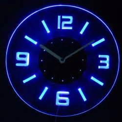 Clock cnc2001 b round numerals illuminated wall neon clock sign