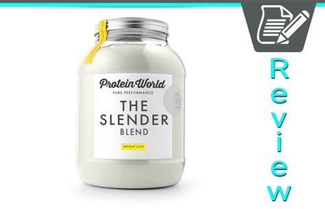 Protein World Protein World Slender Blend Review Meal Replacement Shakes