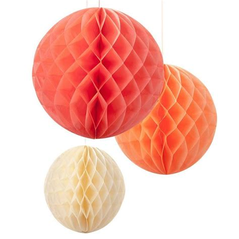 blush mix honeycomb decorations by little cupcake boxes