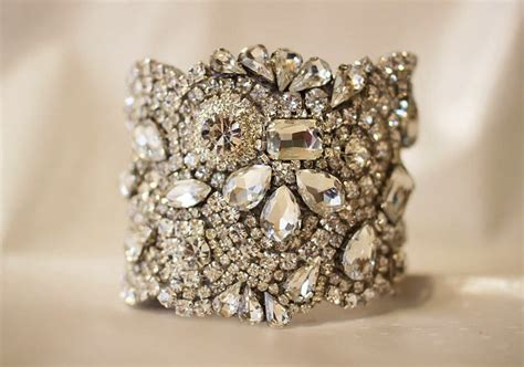 Handmade Bridal Accessories - bridal cuff bracelet handmade wedding accessories 11