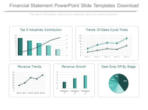 financial presentation templates financial statement powerpoint slide templates