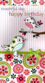 birds pretty happy birthday greeting card cards love kates