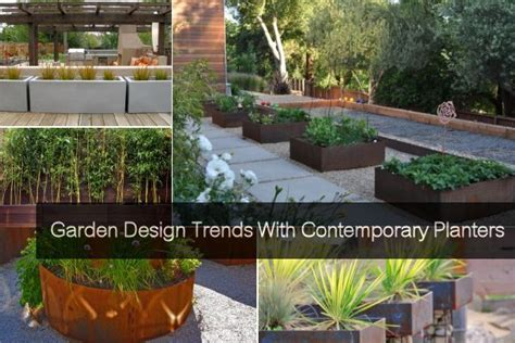 Planters Modern by Garden Design Trends With Planters