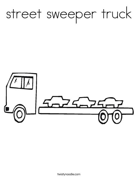 sweeper truck coloring page street sweeper truck coloring page twisty noodle