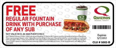 subway printable coupons free regular sub purchase stretching your dollar feb 29 2012
