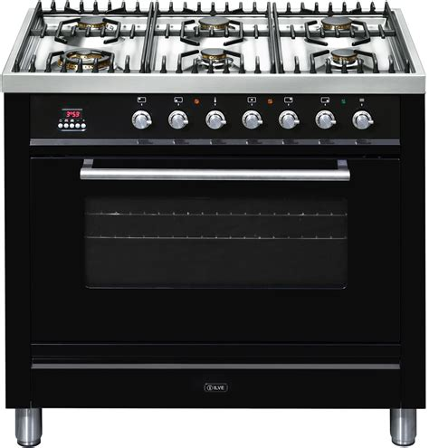 Gas Stove Gas Cooker new ilve nt906wvgb 90cm freestanding gas oven