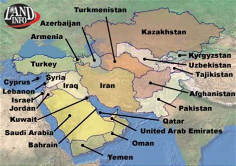middle east map with country names middle east countries map list satellite imagery