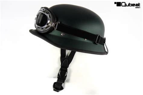 Motorradhelm Stahlhelm by Stahlhelm Olivgr 252 N Mit Motorradbrille Klassisch Chrom
