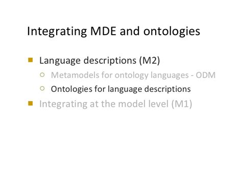 pattern language ontology ontologies and software modeling potentials experience
