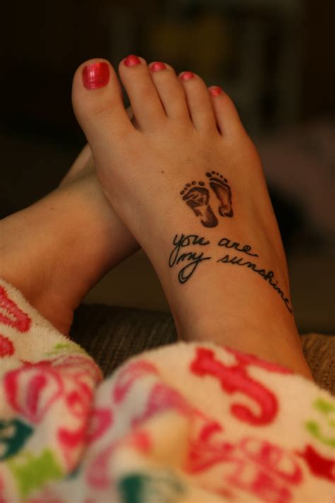 cute foot tattoos baby quotes quotesgram