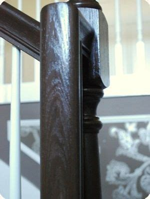 refinish banister railing stair railing railings and espresso on pinterest