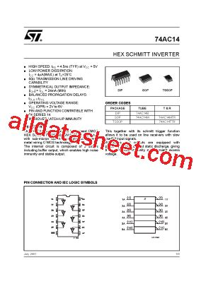 transistor a564 datasheet pdf 74ac14 datasheet pdf stmicroelectronics