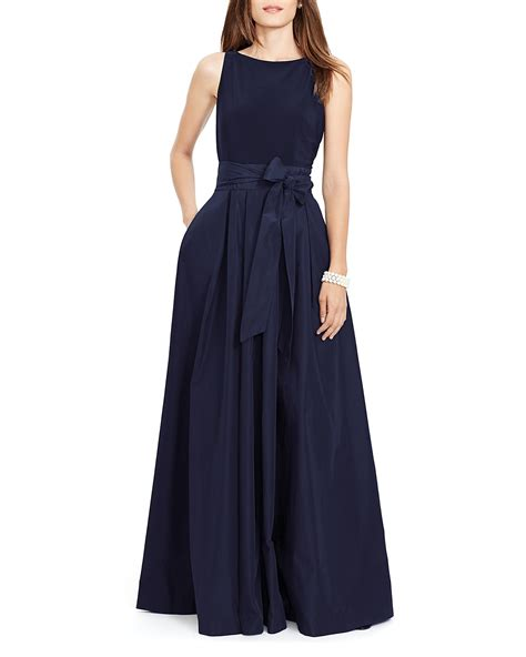 Blue Mermaid Dress By Ralph ralph taffeta gown bloomingdale s
