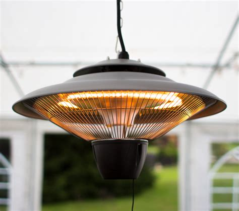Ceiling Mounted Patio Heaters 1 5kw Hanging Ceiling Halogen Bulb Infrared Electric Patio Heater In Grey By Firefly 163 54 99