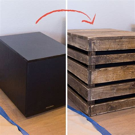 hiding  big home theater subwoofer   diy  table home theater subwoofer diy