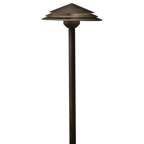Kichler Led Outdoor Lighting Kichler 16124agz30 Tiered Modern Aged Bronze Led Outdoor 3000k Path Lighting Kic 16124agz30