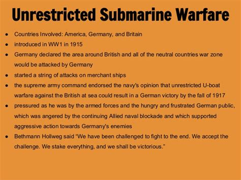 unrestricted u boat warfare ww1 schlieffen plan and u boat warfare