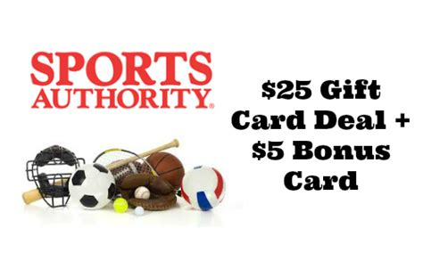 Sport Authority Gift Card - sports authority bonus gift card deal southern savers
