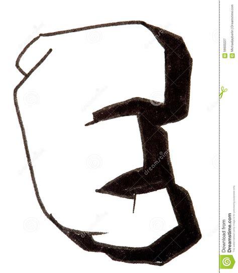 lettere a graffito letter e alphabet in graffiti style stock image image