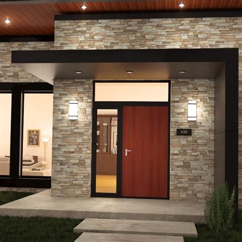 Contemporary Outdoor Wall Lighting Outdoor Lighting Sconces Modern Bistrodre Porch And