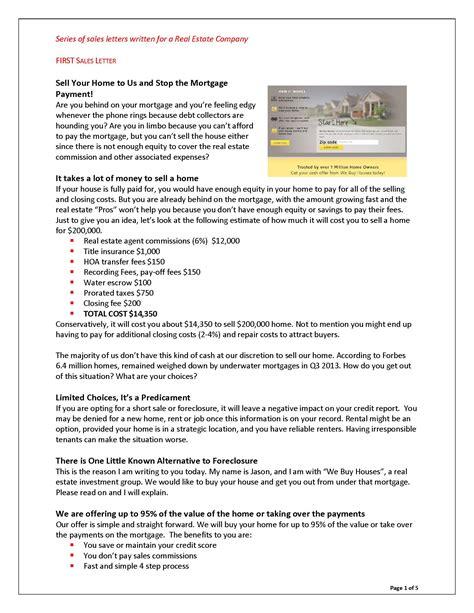 Focused Description Essay by Sale Letter Focused Description Essay
