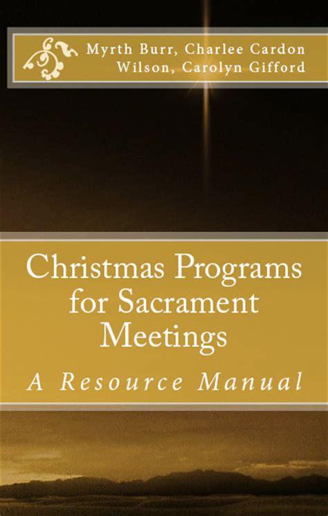 lds christmas program easter programs for sacrament meeting just b cause