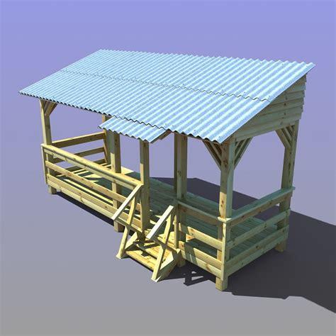 veranda 3d wooden veranda 3d max
