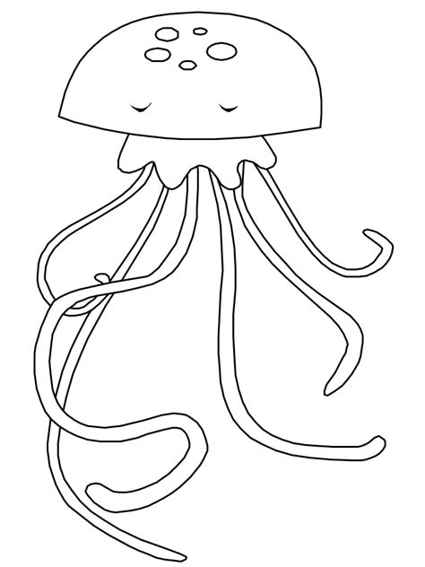 coloring pictures of jelly fish free coloring pages of and jellyfish
