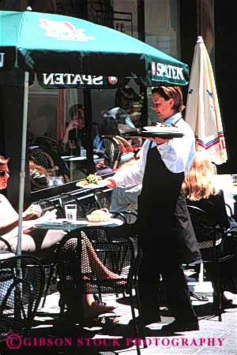 waitress outdoor cafe stock photo 6125