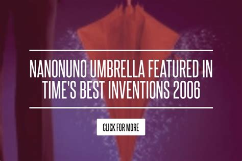 The Nanonuno Umbrella by Nanonuno Umbrella Featured In Time S Best Inventions 2006