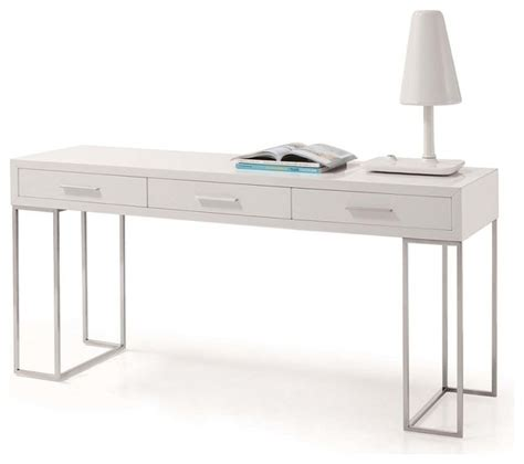 White Lacquer Desk by Sheldon Modern White Lacquer Desk Modern Desks And