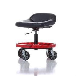 work stool with wheels mechanics garage creeper seat tools