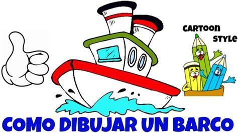 cartoon boat youtube como dibujar un barco animado how to draw a cartoon boat