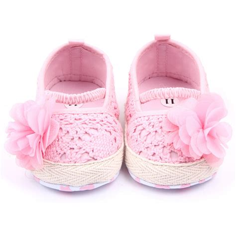 Baby Shoes Prewalker Ella White baby shoes walker pink white cotton floral soft sole baby pre walker shoes in