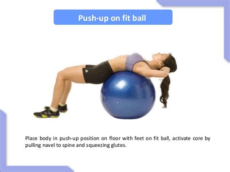 fit ball exercises core strength abs workout