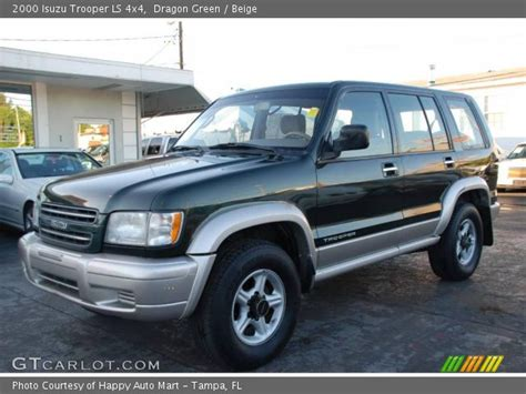 dragon ls for sale dragon green 2000 isuzu trooper ls 4x4 beige interior