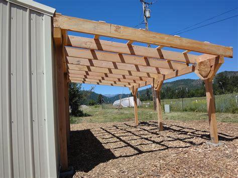 pole shed lean  loft  shed