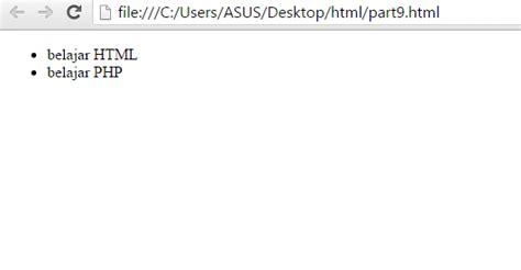 membuat ul html belajar html part 9 membuat list pada html malas ngoding
