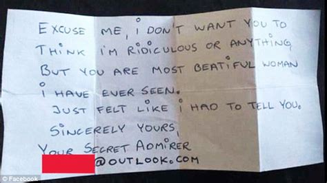 message for secret admirer questioned by after anonymous