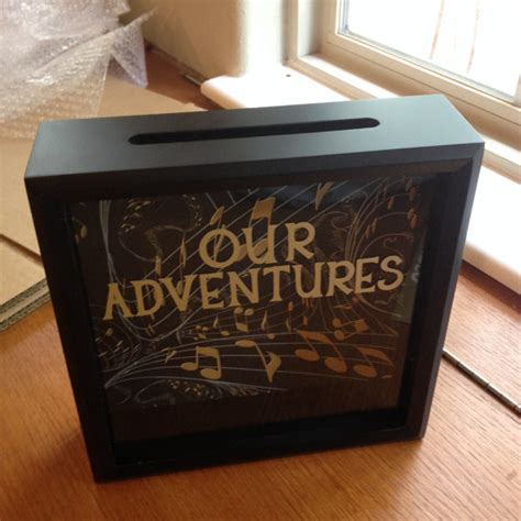 Wedding Box Maker by Our Adventures Ticket Stub Shadow Box 8x8 Gift